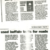 Early Madison Residents Used Buffalo Trails for Roads